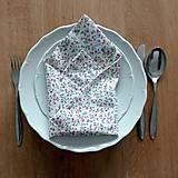 Úžitkový textil - Látkový obrúsok na pekné stolovanie - 10381526_