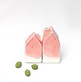 Nádoby - Korenička, soľnička domček ružová - 10380323_