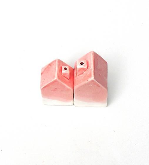Soľnička a korenička domček ružová