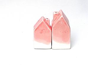 Nádoby - Korenička, soľnička domček ružová  - 10380322_