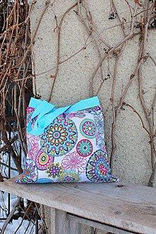 Nákupné tašky - Eko-nákupka (Tyrkysová) - 10381871_