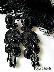Náušnice - Chiara (Čierna) - 10380972_