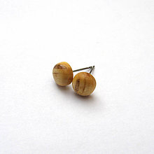 Náušnice - Špaltované javorové vypuklé ďobky - 10381764_
