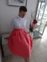 Sukne - ľanová sukňa - 10380780_