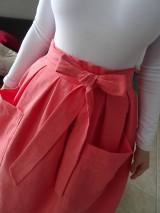 Sukne - ľanová sukňa - 10380789_