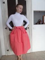 Sukne - ľanová sukňa - 10380798_
