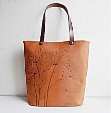 "Kabelky - ALEX ""Grass2"" kožená kabelka s vypaľovaným obrázkom - 10381258_"