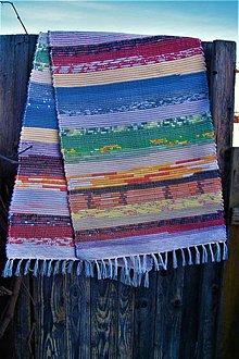 Úžitkový textil - Tkaný koberec pestrofarebný 6 - 10379938_