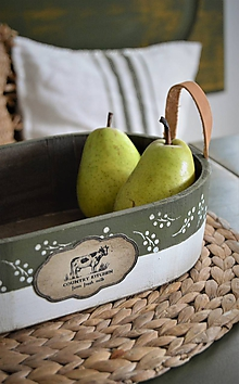 Nádoby - Miska zo zelenej série Country Kitchen - 10381617_