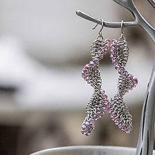 Náušnice - Tobogány - náušnice (světle ružové) - 10384532_