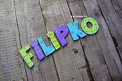 Tabuľky - 9cm písmenká Filipko - 10382496_