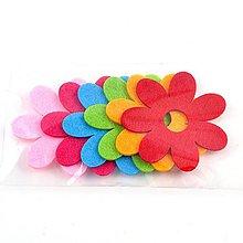 Textil - Filcová ozdoba, sada 6 ks, kvetinky - 10383804_