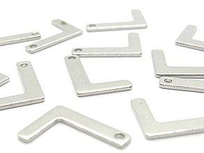 Komponenty - Písmeno L /M8014/ - nerezová oceľ 304 - 10384965_