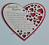 Darčeky pre svadobčanov - Srdce desatoro do manželstva - 10383747_