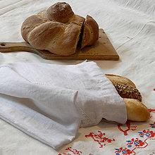 Úžitkový textil - Ľanové vrecko na chlieb / pečivo n.2 - 10382590_