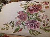 """Úžitkový textil - """"Benátska ruža""""- maľovaný vankúš na režnej bavlne, na výber 3 druhy vzorov - 10382366_"""