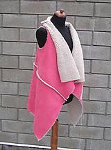 Iné oblečenie - Kožušinová vesta Ružová - 10384438_