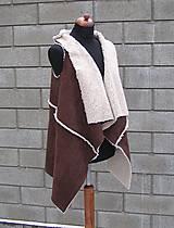 Iné oblečenie - Kožušinová vesta Hnedá - 10384466_