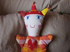 Hračky - srdíčkový kašpárek - 10383624_