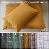 Textil - Detské obliečky 100 x 140 / 40 x 60 cm MUSTARD Horčicová - 10384591_