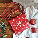Kabelky - Eva kvietkovaná (kožená kabelka - ručne maľovaná) - 10382393_