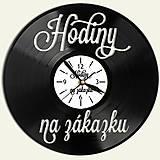Hodiny - Tovar na zákazku - vinylové hodiny - 10383163_