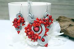 Sady šperkov - Súprava koral v sivom - 10384283_