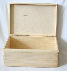 Polotovary - Krabica s vrchnákom 35x24x14,5 cm - 10383203_