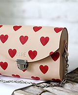 Kabelky - Kabelka s retiazkou CLUTCH HEARTS - 10383516_