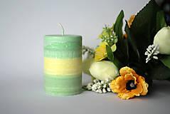 Svietidlá a sviečky - Dvojfarebná sviečka z palmového vosku Ø70 - 10383211_