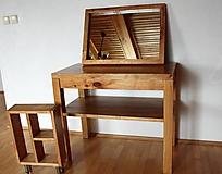Nábytok - stolík pod umývadlo/kúpelňová zostava - masív - 10384552_