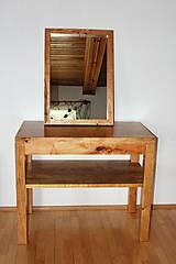 Nábytok - stolík pod umývadlo/kúpelňová zostava - masív - 10384559_