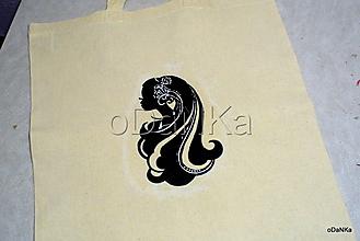 Nákupné tašky - ľanová nákupná taška Tajomná - 10384586_
