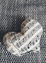Dekorácie - Hudobné srdce - 10384297_