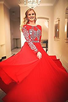 Šaty - Plisované šaty Slavianka - 10382538_