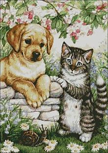 Návody a literatúra - C063 Psík a mačička - 10384969_