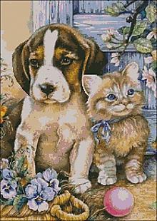 Návody a literatúra - C064 Psík a mačička - 10384991_