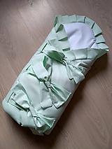 Textil - Zavinovačka Mint/Biela - 10384630_
