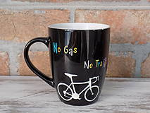 Nádoby - Čierny hrnček - Ride Your Bike Save The World - 10383888_