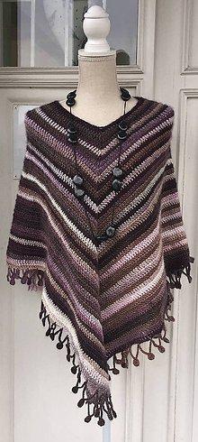 Iné oblečenie - Háčkované pončo s efektným okrajom - 10382502_