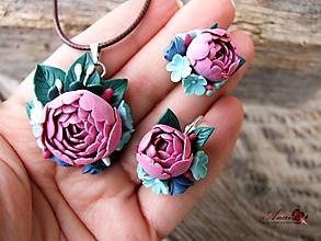 Sady šperkov - Kvetinová súprava - 10383912_