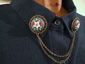 Odznaky/Brošne - Brošňa na košeľu - 10384250_