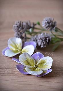 Náušnice - Orchideové - visiace náušnice s francúzskym zapínaním - 10384200_