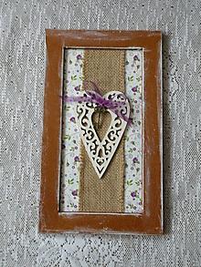 Dekorácie - Romantický obrázek - Srdíčko na kytičkách - 10384717_