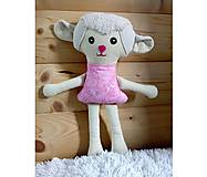 Hračky - Nádherná mojkacia hračka Ovečka OVKA a Baranček BARY (Béžová ovečka bez sukienky) - 10382401_