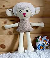 Hračky - Nádherná mojkacia hračka Ovečka OVKA a Baranček BARY (Béžová ovečka bez sukienky) - 10382403_