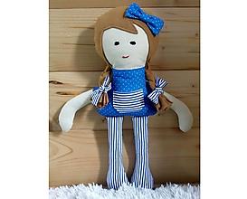 Hračky - Látková bábika (Helenka Modrá bez sukienky) - 10383444_