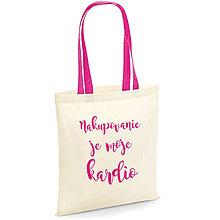 Nákupné tašky - Nakupovanie je moje kardio - nákupná plátená taška - 10383740_