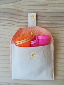 Nákupné tašky - Kapsička na eko vrecká (Light Orange) - 10383079_