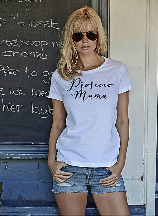 Tričko s potlačou 'Prosecco mama' (L)